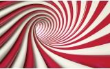 Fotobehang Papier Design, Slaapkamer | Rood, Wit | 254x184cm