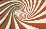Fotobehang Design, Slaapkamer | Oranje | 312x219cm