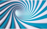Fotobehang Design | Blauw, Wit | 104x70,5cm