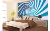 Fotobehang Papier Design | Blauw, Wit | 368x254cm