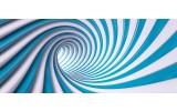 Fotobehang Design | Blauw, Wit | 250x104cm