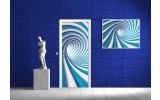 Deursticker Muursticker 3D, Design | Blauw | 91x211cm