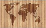 Fotobehang Papier Wereldkaart | Bruin | 368x254cm