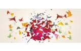 Fotobehang Abstract, Origami   Geel   250x104cm