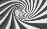 Fotobehang Papier Design, Diepte | Zwart | 254x184cm