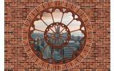 Fotobehang Muur, New York | Bruin | 416x254