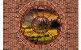 Fotobehang Vlies | Muur, Natuur | Bruin | 368x254cm (bxh)