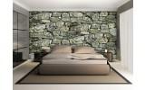 Fotobehang Stenen, Muur | Groen | 152,5x104cm