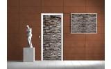 Deursticker Muursticker Stenen, Muur | Grijs | 91x211cm
