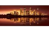 Fotobehang Skyline, Steden | Bruin | 250x104cm