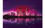 Fotobehang Skyline, Steden | Paars | 104x70,5cm