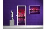 Fotobehang New York   Paars, Roze   91x211cm