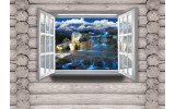 Fotobehang Papier Hout, Natuur | Grijs | 254x184cm