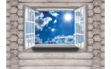 Fotobehang Papier Hout, Lucht | Blauw | 368x254cm