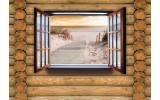 Fotobehang Vlies | Hout, Strand | Bruin | 368x254cm (bxh)