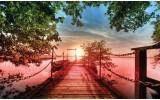 Fotobehang Natuur, Brug | Groen | 208x146cm
