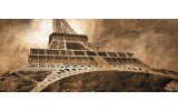 Fotobehang Eiffeltoren, Parijs   Sepia   250x104cm