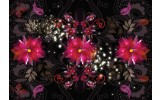 Fotobehang Bloemen, Klassiek | Paars | 208x146cm