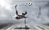 Fotobehang Vlies | Voetbal | Grijs | 368x254cm (bxh)