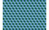 Fotobehang Papier 3D | Blauw, Groen | 368x254cm