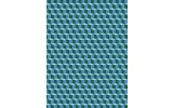 Fotobehang Papier 3D   Blauw   184x254cm