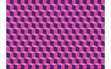 Fotobehang Vlies | 3D, Design | Roze | 368x254cm (bxh)