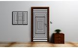 Deursticker Muursticker 3D, Design | Zwart, Wit | 91x211cm