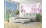 Fotobehang Bloemen | Paars, Roze | 250x104cm