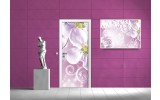 Deursticker Muursticker Bloemen | Paars, Roze | 91x211cm