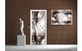 Deursticker Muursticker Modern | Zilver, Bruin | 91x211cm