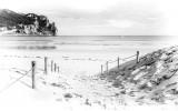 Fotobehang Vlies   Strand, Zee   Wit   368x254cm (bxh)