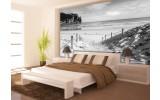 Fotobehang Strand, Zee | Grijs | 208x146cm