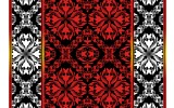 Fotobehang Papier Abstract | Rood, Zwart | 368x254cm