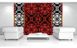 Fotobehang Abstract | Rood, Zwart | 104x70,5cm