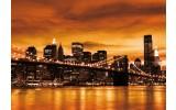 Fotobehang New York | Oranje | 104x70,5cm