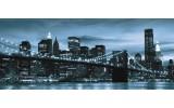 Fotobehang New York | Blauw | 250x104cm