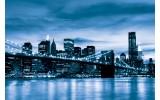 Fotobehang Vlies | New York | Blauw | 368x254cm (bxh)
