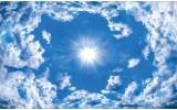 Fotobehang Lucht, Wolken   Blauw  
