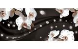 Fotobehang Orchideeën, Bloemen   Wit   250x104cm