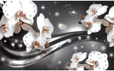 Fotobehang Orchideeën, Bloemen | Zilver | 152,5x104cm
