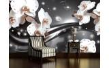 Fotobehang Orchideeën, Bloemen | Zilver | 104x70,5cm