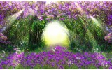 Fotobehang Natuur | Groen, Paars | 208x146cm