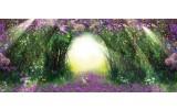 Fotobehang Natuur | Groen, Paars | 250x104cm