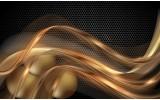 Fotobehang Vlies | Design | Goud, Zwart | 368x254cm (bxh)