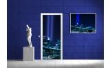 Fotobehang New York | Blauw | 91x211cm
