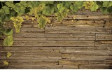 Fotobehang Vlies   Hout   Groen, Bruin   368x254cm (bxh)
