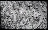 Fotobehang Muur, Bloemen | Grijs | 208x146cm
