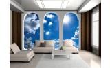 Fotobehang Lucht, Wolken | Blauw | 152,5x104cm