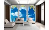 Fotobehang Papier Natuur, Lucht | Blauw | 368x254cm