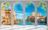 Fotobehang Vlies   Venetië, Stad   Blauw   368x254cm (bxh)